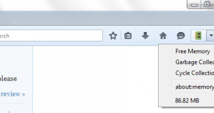 free unused memory Firefox
