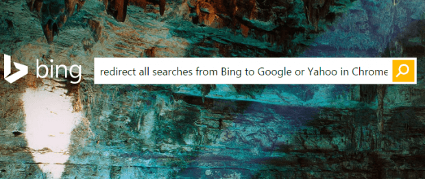 redirect all Bing searches to Google in Chrome b
