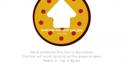 send large files through peer to peer sharing online