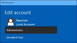 Standard User/Admin Windows 10