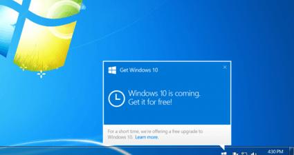 Windows 10 Update prompt
