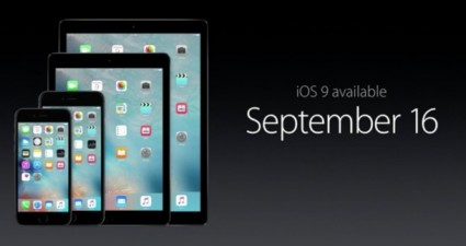 iOS 9 release date
