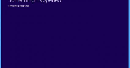Windows 10 something happened