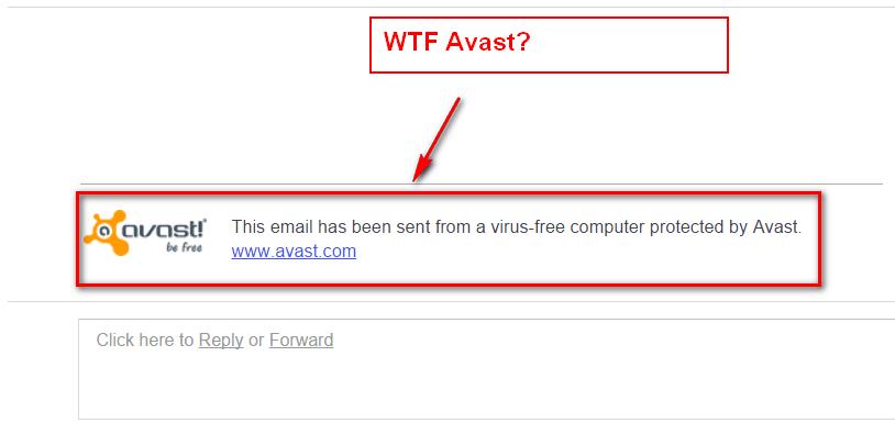 avast signature in gmail