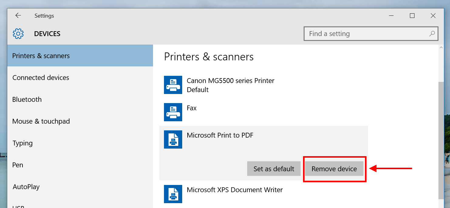 How to remove Microsoft Print to PDF in Windows 10 [Tip] | Reviews ...