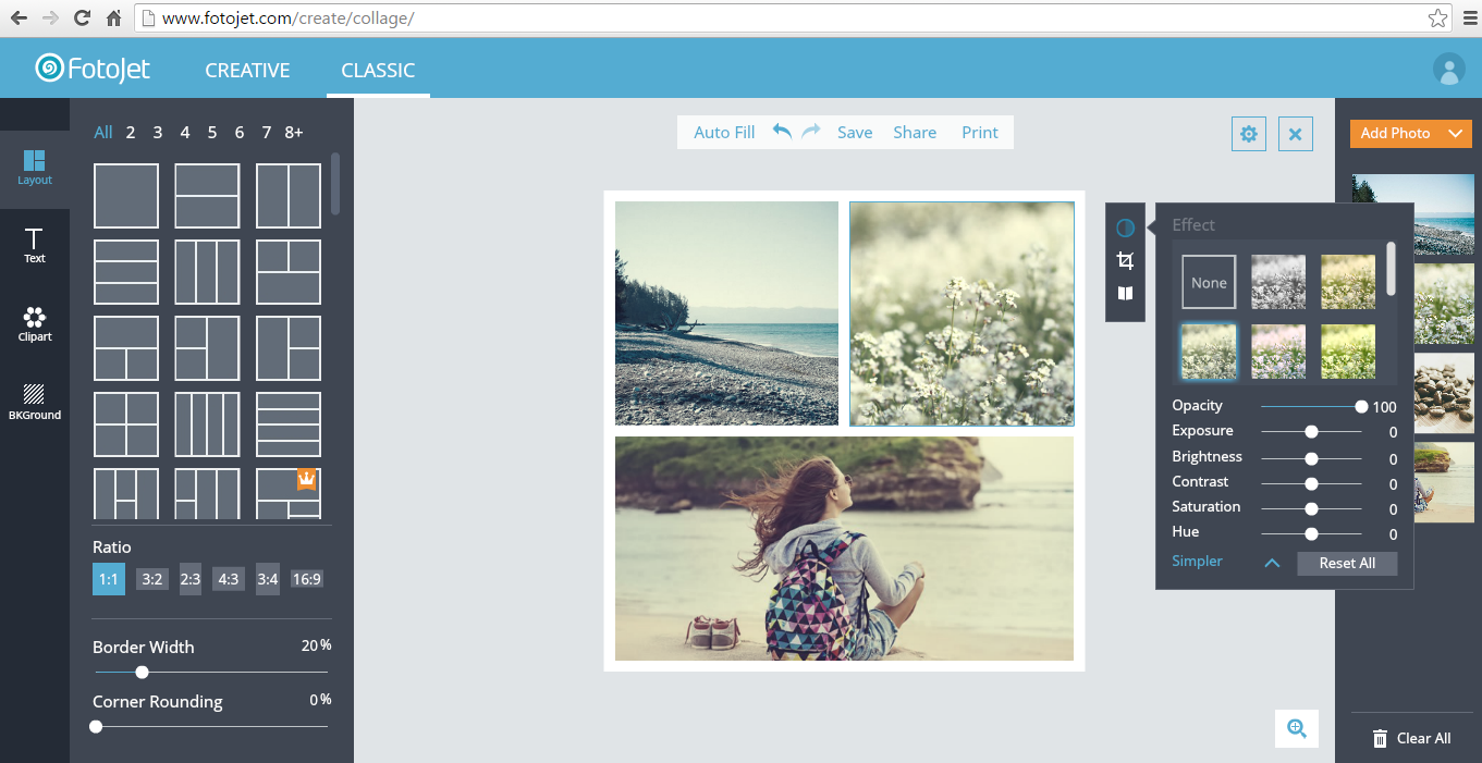 Create beautiful photo collages and cards online with FotoJet [Web]  dotTech