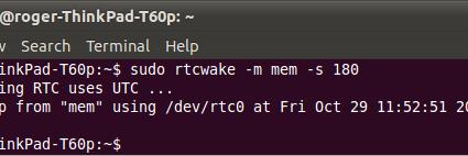 sleep-wake-rtcwake-worked