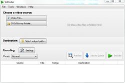 VidCoder is a video transcoding software that uses Handbrake