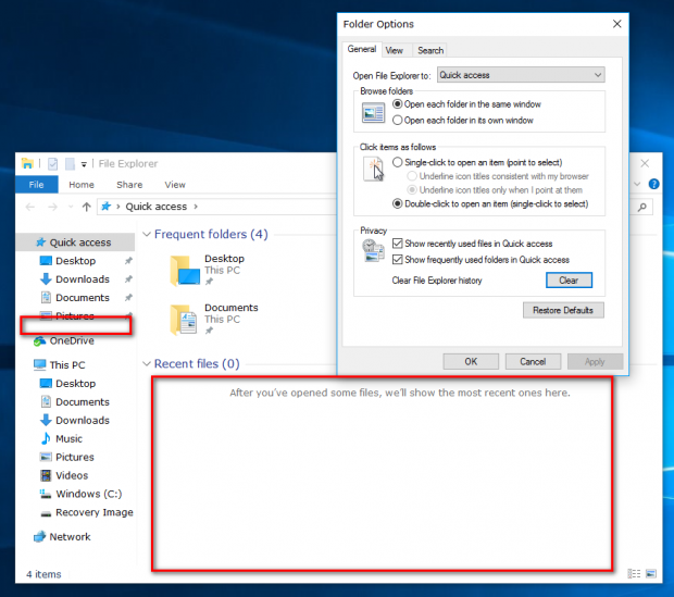 How To Delete Quick Access History In Windows 10 [Tip