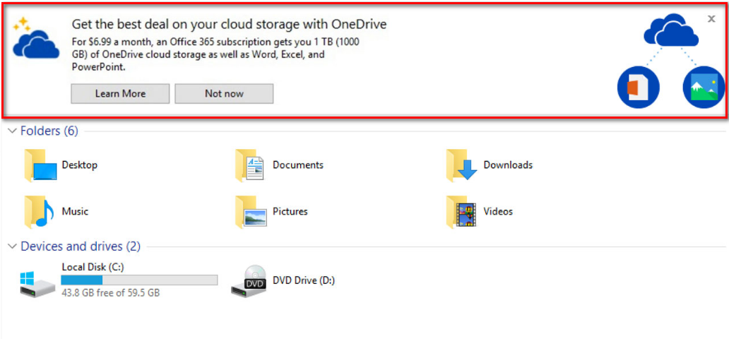 How to disable ads in File Explorer in Windows 10 [Tip