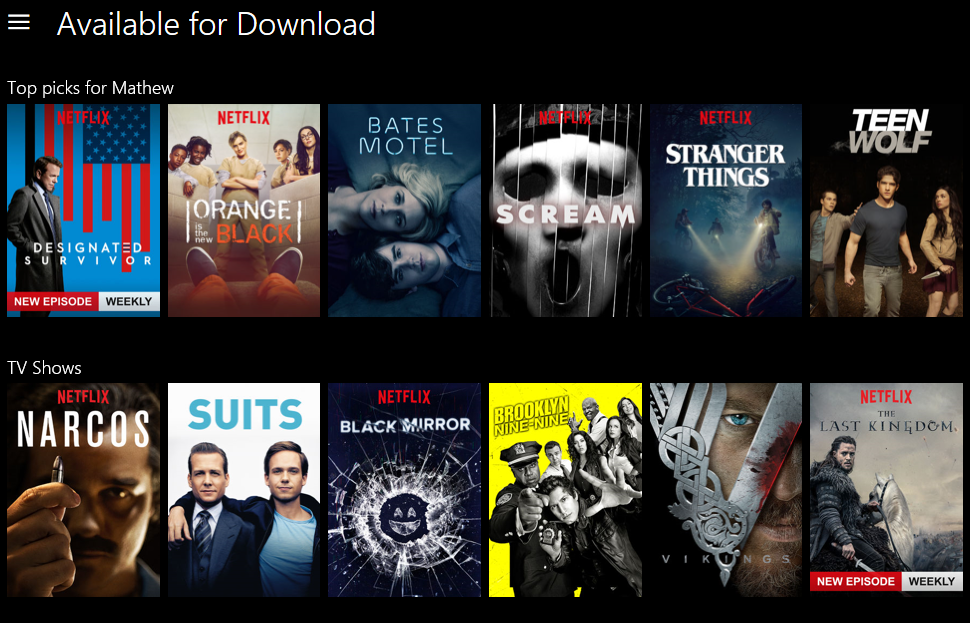 How to legally download Netflix movies and shows in Windows