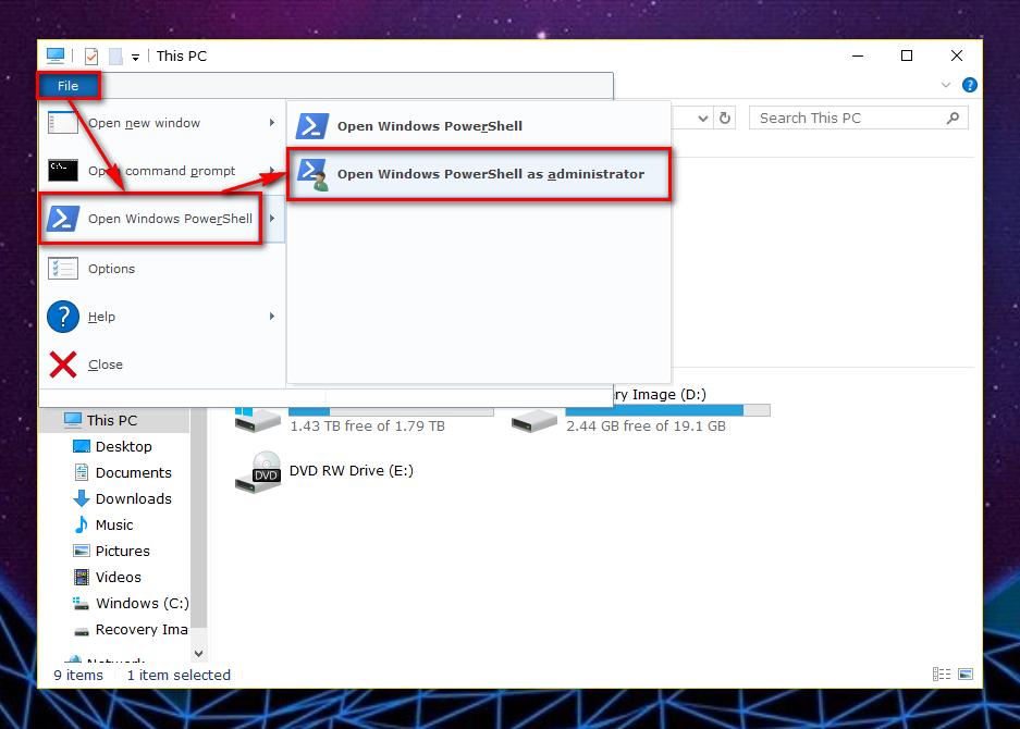 windows 10 powershell commands