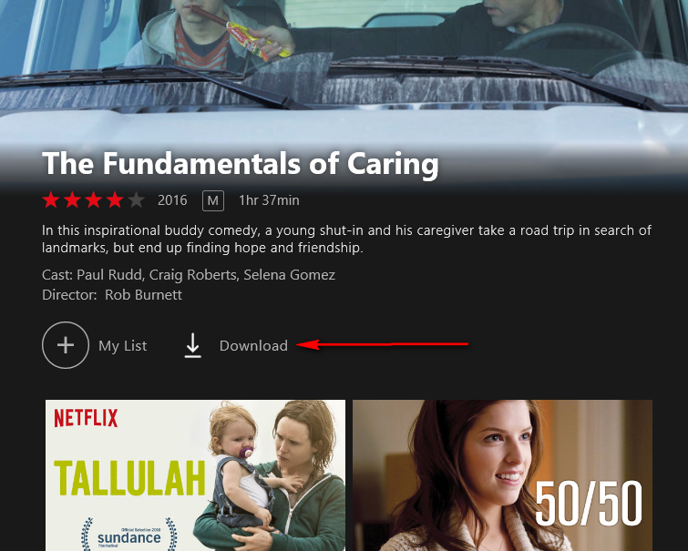 how to download show on netflix on window 10