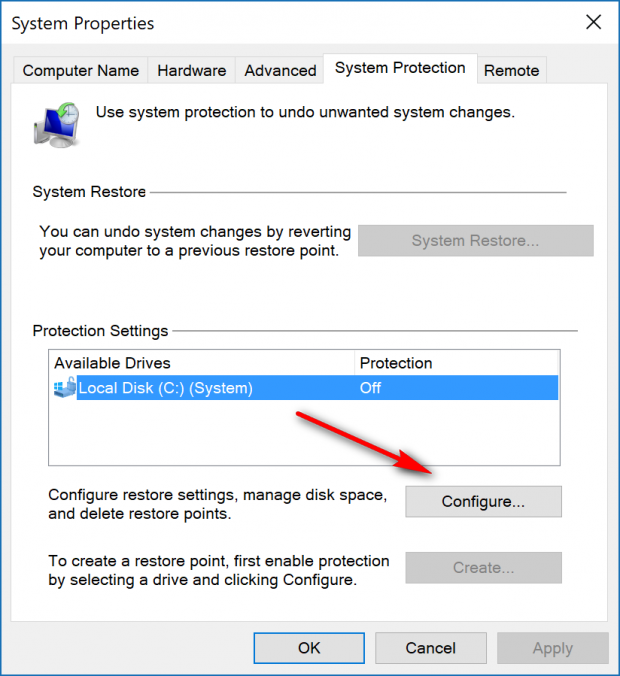 how to turn protection on a drive