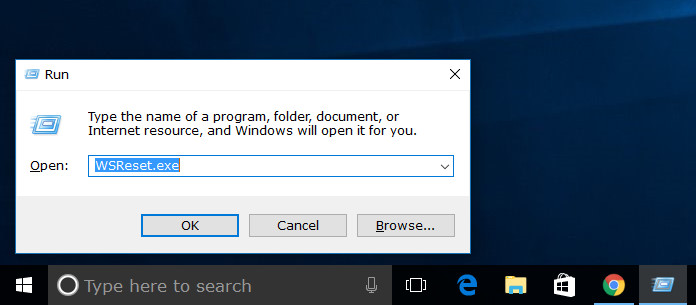 How to clear and reset Windows Store cache in Windows 10
