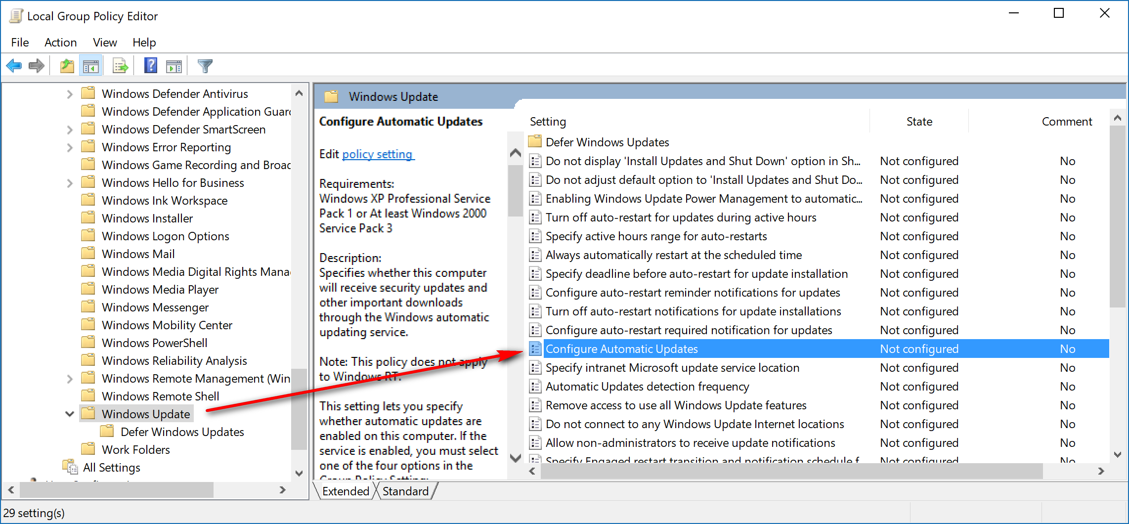 How to enable or disable automatic updates for Windows