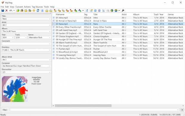Mp3tag Main Window